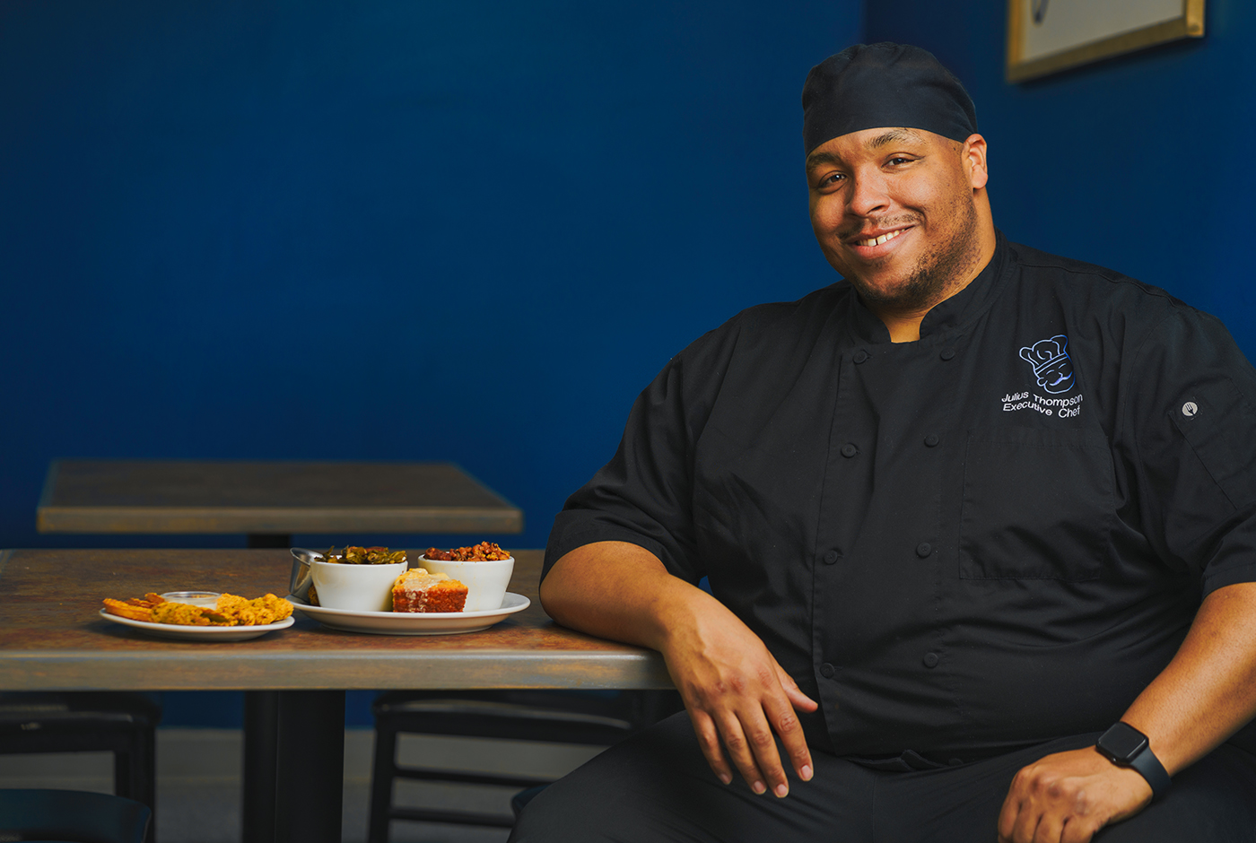 Julius Thompson, Head Chef and Owner of Sauce Boss Southern Kitchen, knows the one thing that can bring people together is food.