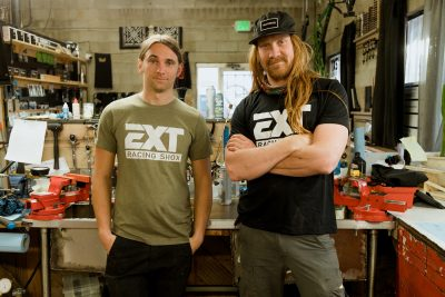 """(L-R) For Cody Priano, Founder of Suspension Syndicate, and Stew Greer, the shop embodies its namesake definition: """"having multiple people [work] for the same common good."""""""