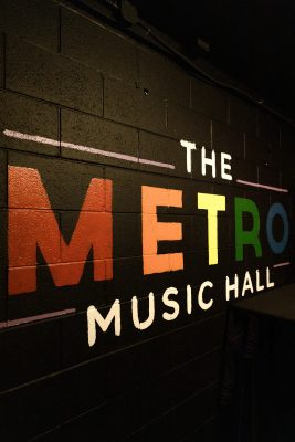 The Metro Music hall showing off their queer pride.