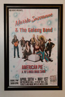 A poster for Marrlo Suzzanne & The Galaxy Band.