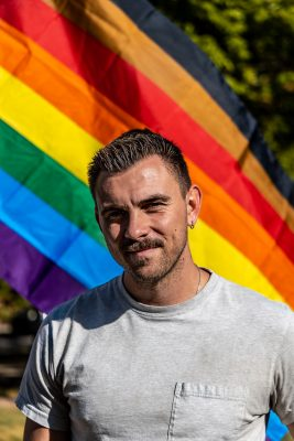 Lucas Horns, Founder of Project Rainbow, felt like the only queer person in Provo until his neighbor placed a Pride flag in their yard.