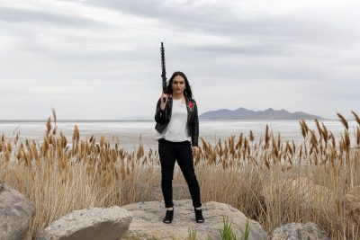"""The Salt Lake City Pink Pistols focuses on """"arming, training and defending queer and trans communities here in Utah,"""" says Ermiya Fanaeian."""