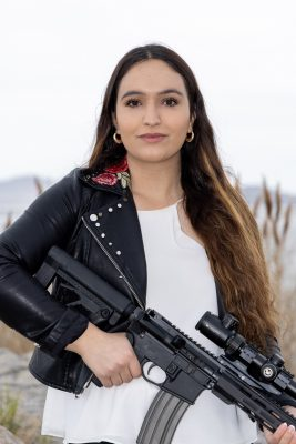 """""""It is not just [about] engaging with the conversation of firearms but also engaging in the politics of the working class,"""" says Ermiya Fanaeian of the Salt Lake City Pink Pistols."""