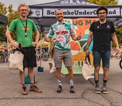 Men's Winners (L–R): Max Hoag (3rd), Clint Campbell (1st), Max Ryan (2nd).