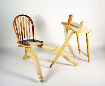 """Kitchen Set,"" 2020, Wood Sculpture."