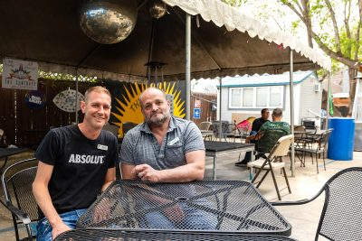 (L–R) Riley Richter and husband Micheal Repp inherited The Sun Trapp from the previous owner Rob Goulding and have done everything in their power to keep Goulding's vision of the bar going.