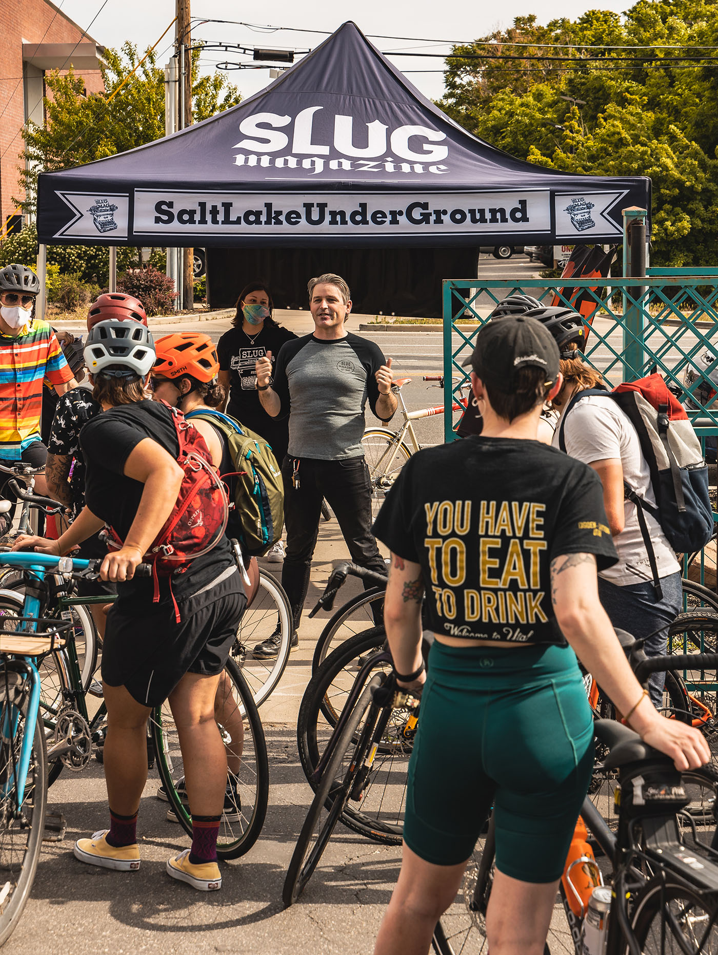 Racers from across the valley converged at Saturday Cycles in hopes of becoming this years' champion at the 9th Annual SLUG Cat bike race.
