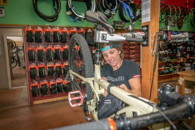 For Chile Pepper Bike Shop owner Tracy Bently, the shop provides her with a chance to connect to the vast beauty of the Southern Utah desert.