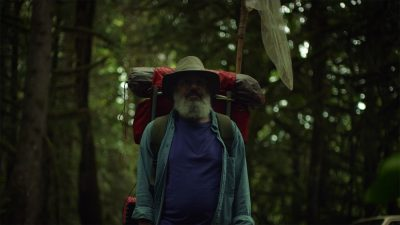 In The Dark Divide, David Cross' character takes a literal and spiritual journey through Bigfoot country.