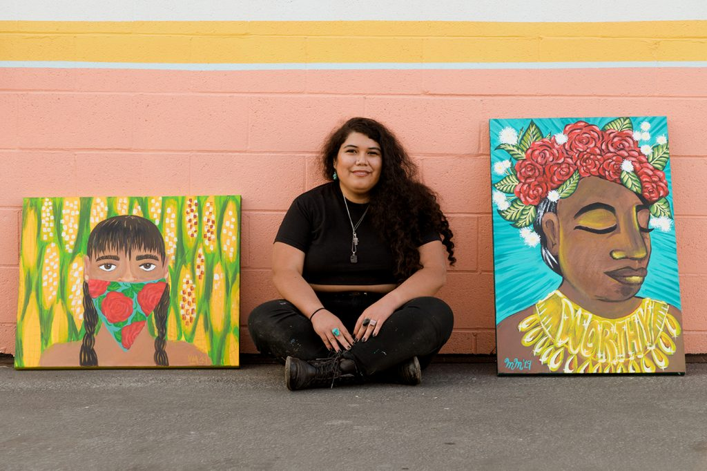 """Colorful, Angry, Happy"": Activist Mariella Mendoza Uses Art As a Call-to-Action"