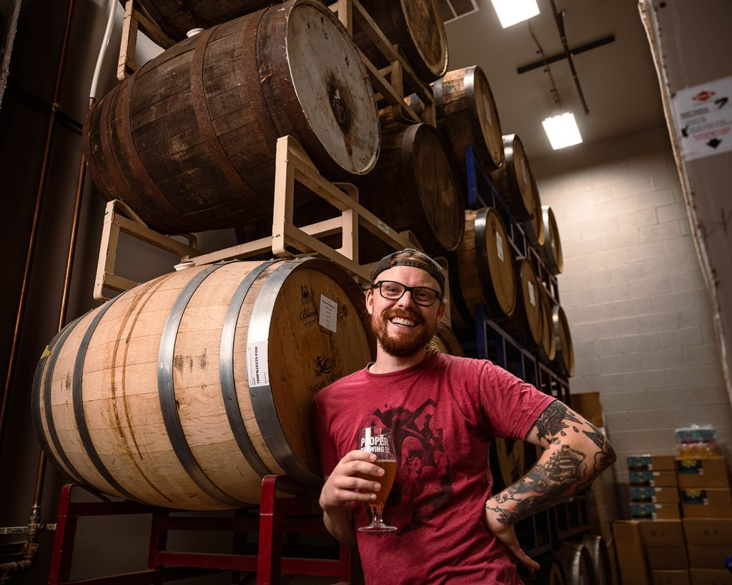 """""""We are about creating unique beer that people actually want to drink,"""" says Jeff Bunk of Proper Brewing."""