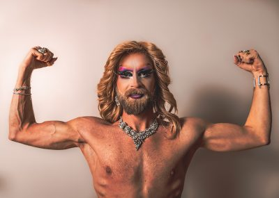 """""""[My beard] reminds me that I am a man. ... The drag world has made me embrace my femininity and ... [made me] proud of being called a woman. Interestingly enough, it has also caused me to embrace my masculinity,"""" says Marrlo Suzzanne."""