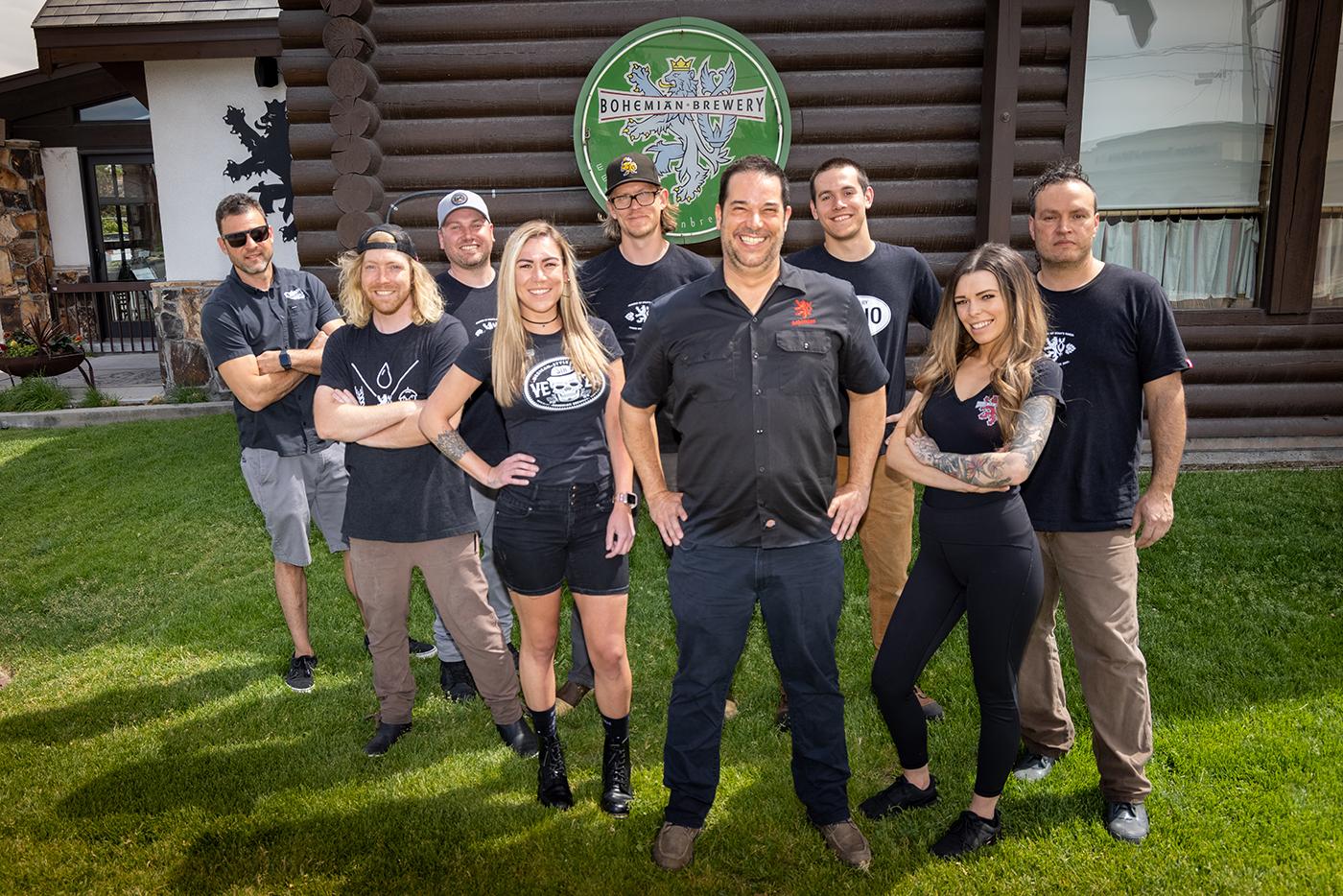 Bohemian Brewery staff Will Gillane, Dylan Harding, Rob Schultz, Janelle Bassett, Brian Ericksen, Kelly Schaefer, Hunter Conley, Taylor Baird and Sasha Taddie.