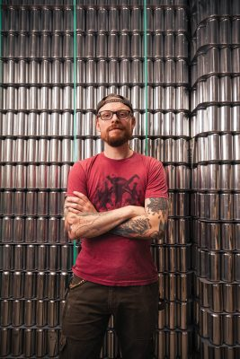 Proper Brewing's Head of Cellars, Jeff Bunk, has spearheaded aging their Lei Effect Gose in rum barrels, which imparts a daiquiri taste to the beer.