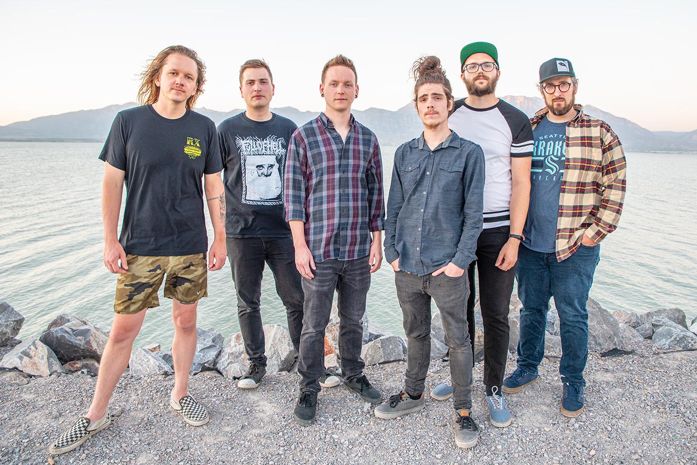 (L–R) Jason Bohman, Evan Wharton, Derek Harman, Tyler Webb, Jake Bills and Myles Lawrence of The Anchorage.