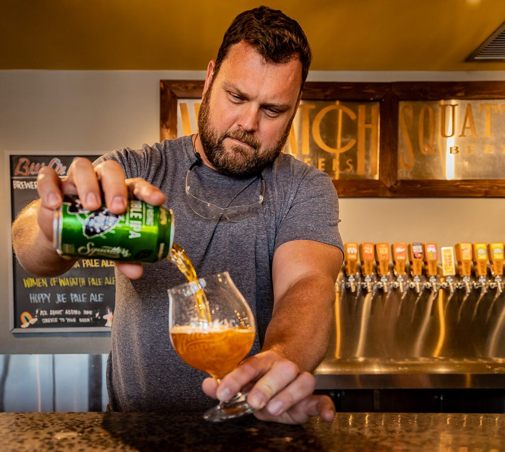 """""""Beer Exploder"""" with Squatters' Hop Rising"""