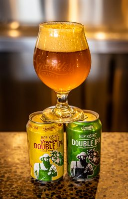 Squatters' Hop Rising Double IPA has grown as a brand in and of itself over the years, and is also available in its Tropical DIPA form.