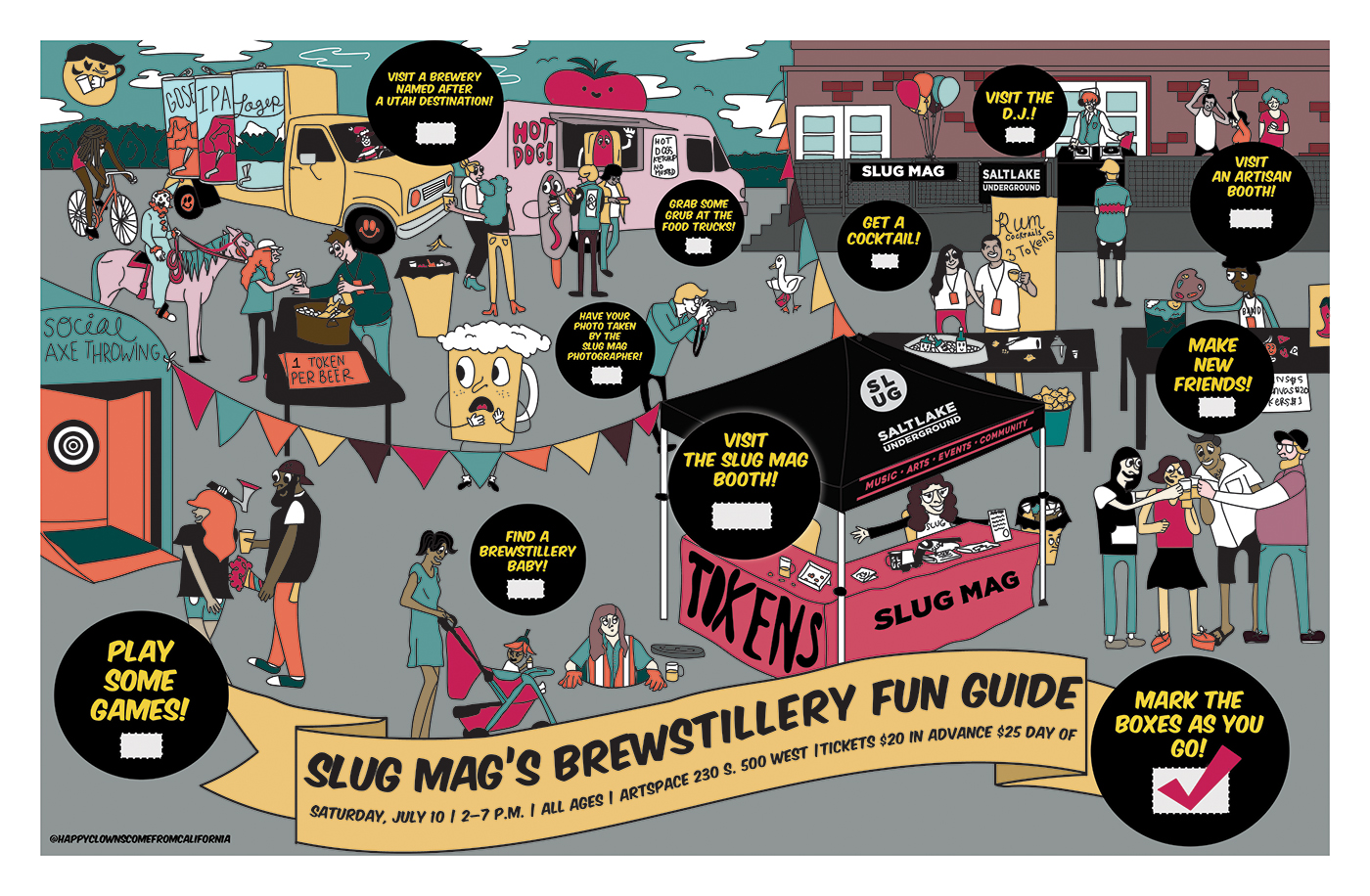 Mark the boxes as you make your way through the 2021 edition of SLUG Mag's Brewstillery on Saturday, July 10 from 2 p.m. to 7 p.m.