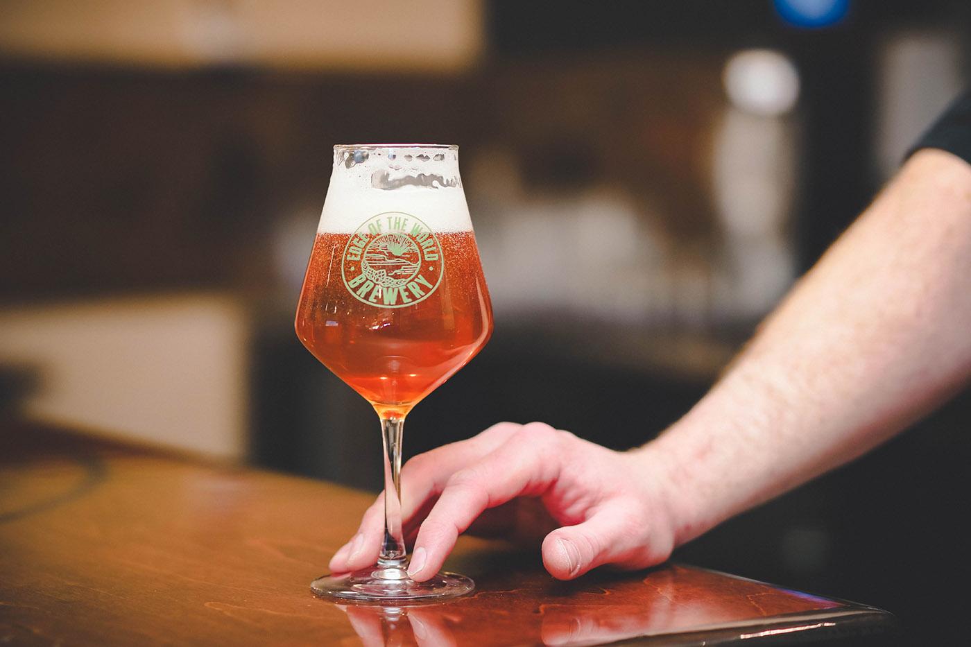 "Edge of the World Brewery sits one mile across the Arizona/Utah border, making them a self-proclaimed ""adopted"" Utah brewery."