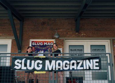 SLUG Mag's Managing Editor and Junior Editor, Bianca Velasquez and Audrey Lockie setting up for SLUG Picnic.