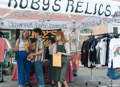 Local artisans present their work to the SLUG Picnic audience.