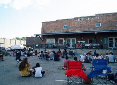 The crowd anxiously awaits the night's music.