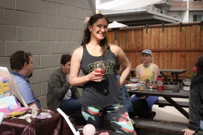 """""""The art shows at the brewery are a great way to reconnect with friends, enjoy and support the artists over some delicious beer,"""" says Alexandra Ortiz of Shades Brewing."""