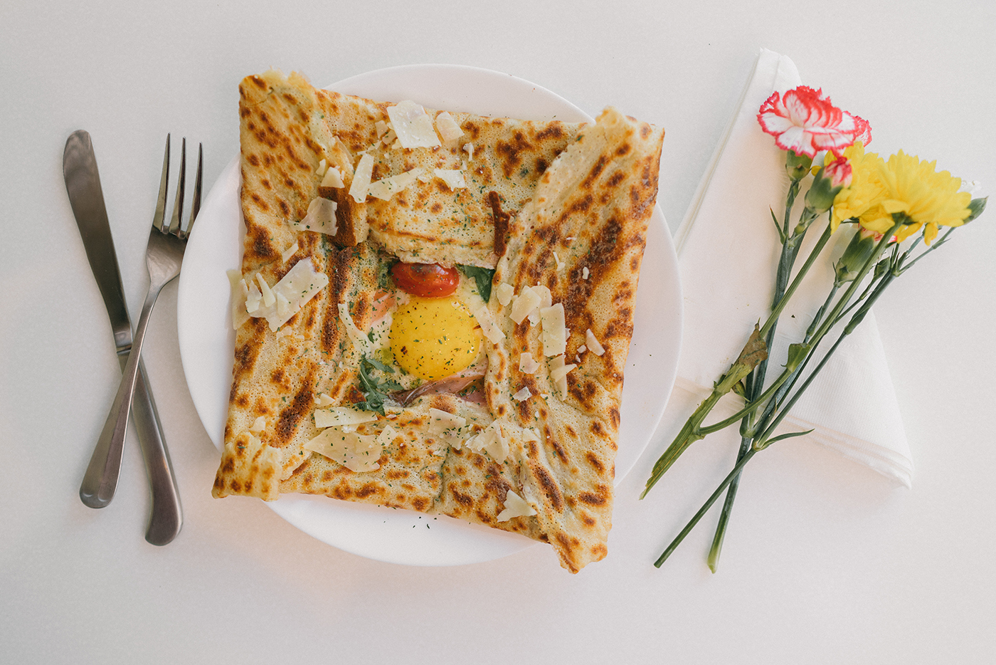 Dali Crepes' Breakfast in Montenegro crepe can come in either a savory or breakfast (pictured) option.