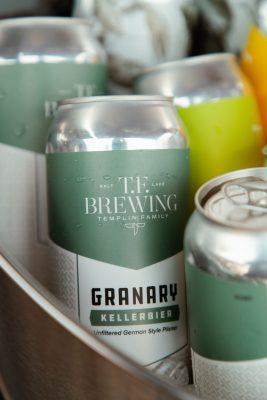 T.F. Brewing's Granary Kellerbier awaits its next pour.