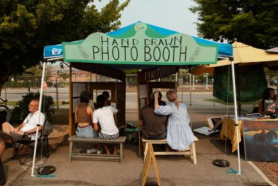 The Hand Drawn Photo Booth gives guests a one-of-a-kind take-home souvenir.
