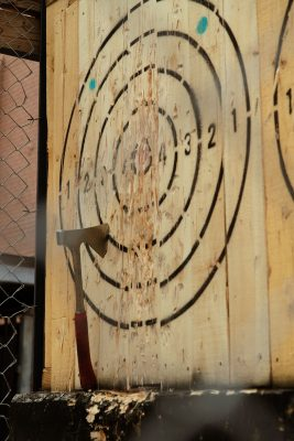 Social Axe Throwing's game center was a thrilling hit at the 2021 Brewstillery.