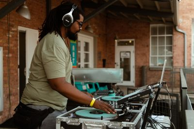 DJ Key1 spinning disco hits and funk classics to close out the festival.