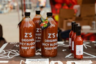 Z's Hot Sauce sat amongst the brewers and distillers at the 2021 Brewstillery.