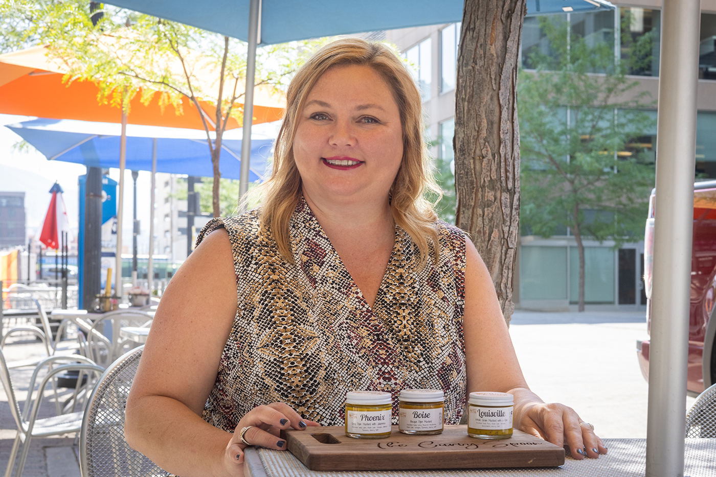 Using simple ingredients, the Curvy Spoon is a small-batch, artisanal mustard company owned and operated by Valerie Koonce.