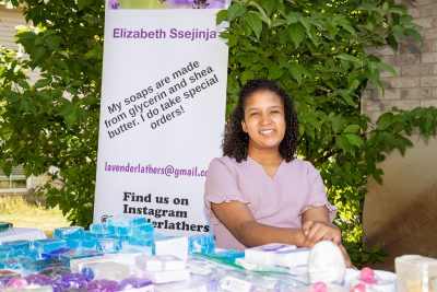 Fourteen-year-old Utah native Elizabeth Ssejinja created Lavender Lathers to make homemade soap after being diagnosed with cancer in 2018.