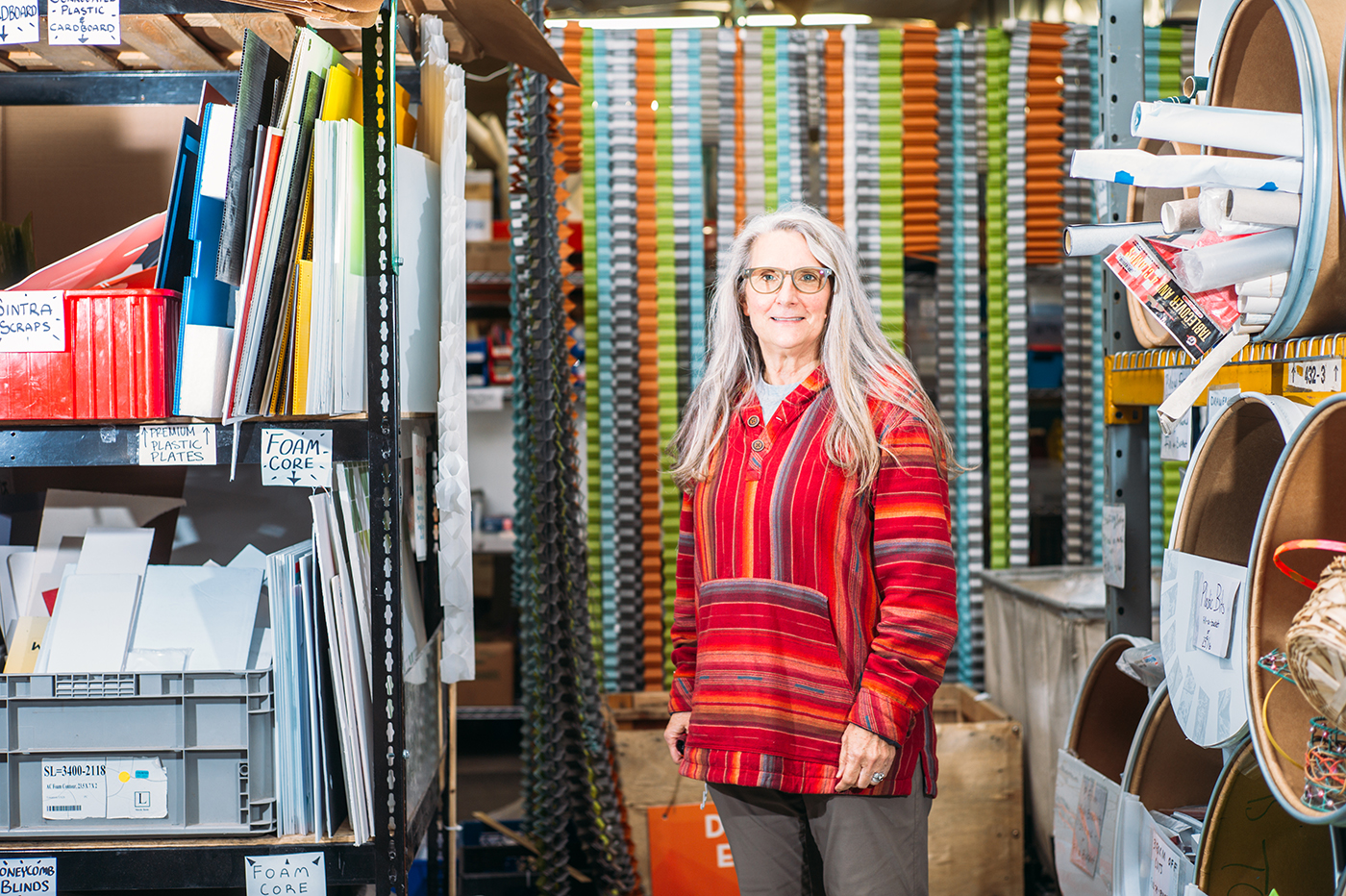 """Sheri Gibb aspires to make Clever Octopus the premiere """"Creative Reuse Center"""" in Utah through discounted materials, programs and workshops."""
