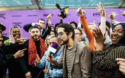 Carlos López Estrada and the cast of Summertime at the 2020 Sundance Film Festival.