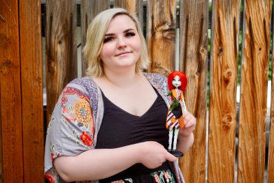 Craft Lake City artisan and Owner of Etsy store ScarabDolls Alexandra Sheffer reimagines plastic dolls and gives them an updated look.