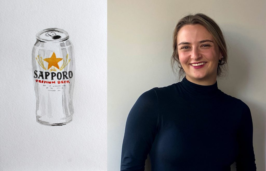 Sophie Schwabacher: Tapping Beer Nostalgia with Watercolor