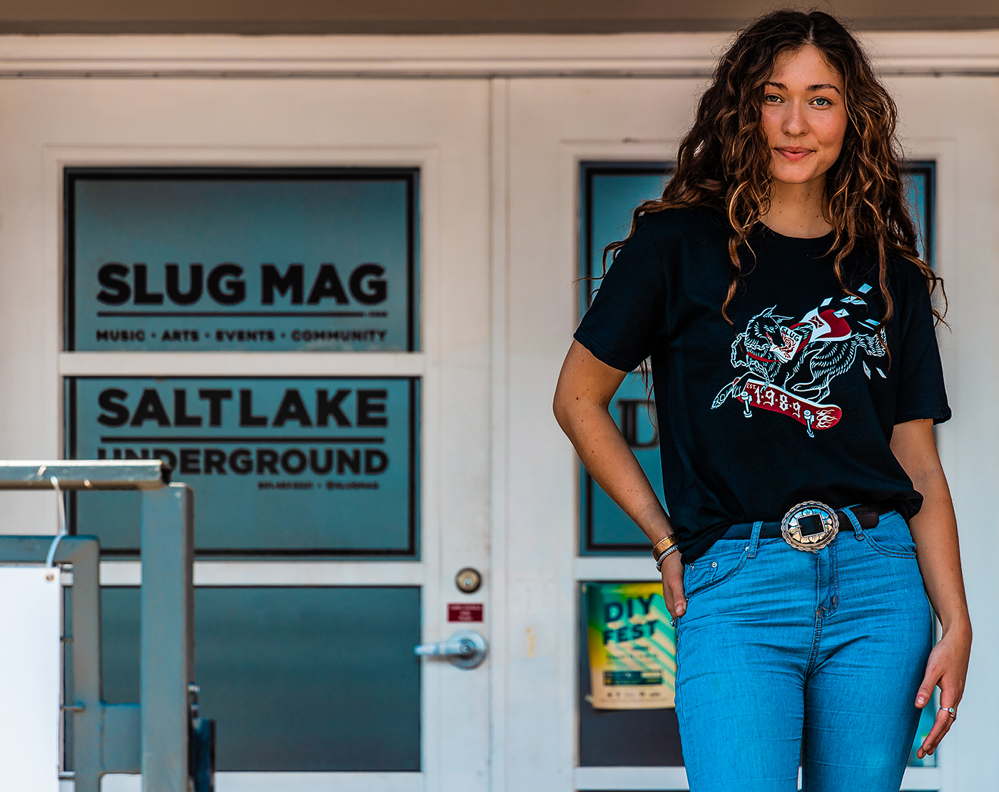 For SLUG's T-shirt design contest, Halley Bruno's interpretation of SLUG as a skateboarding dog won, but her artistic love began earlier.