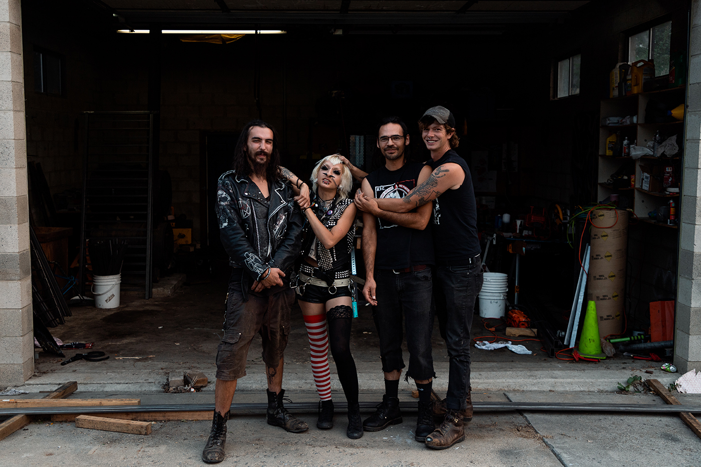 (L–R) Tyler Barrani, Ronnie Rot, Dan and Spencer Anderson (@officialgagorderband).