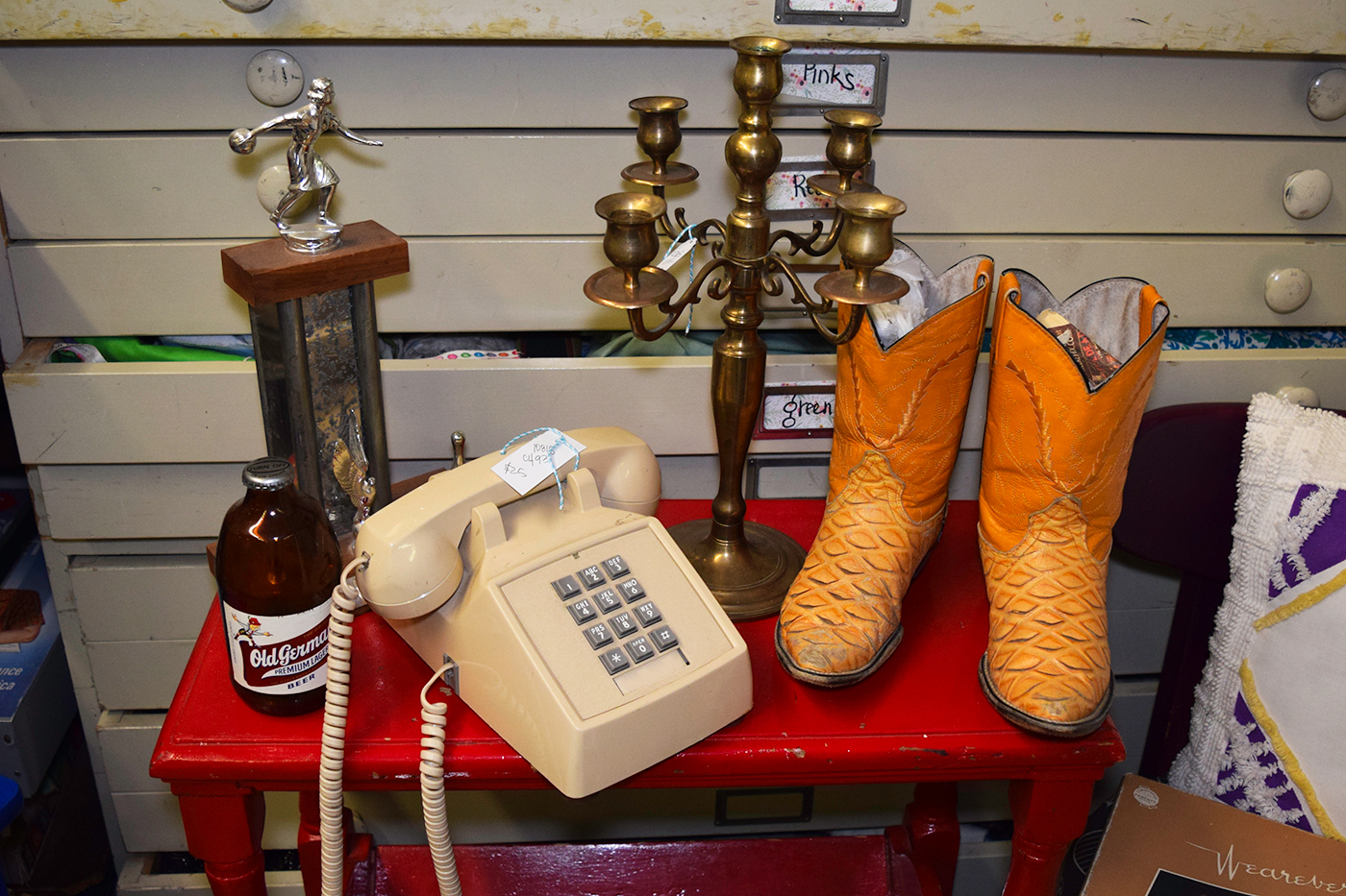 Some of the various curios available from Abode Vintage.