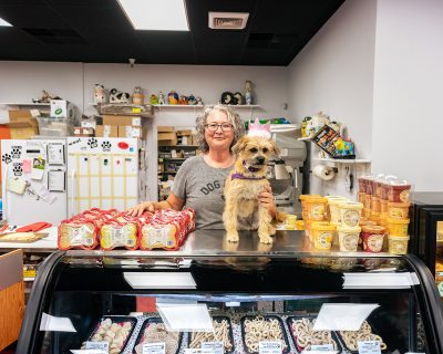 Ma and Paws' handmade treats are made out of a GMO-free, whole wheat flour base with savory and/or sweet ingredients added.