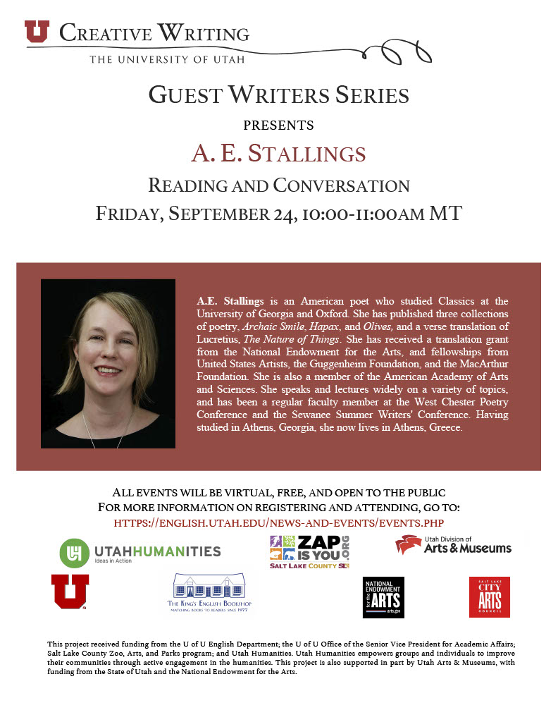 Guest Writers Series with A.E. Stallings