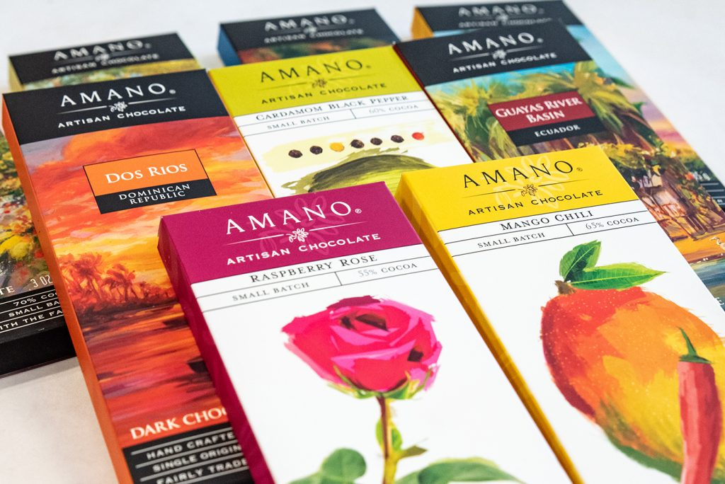 Amano Artisan Chocolate has many different flavors to excite your palette.