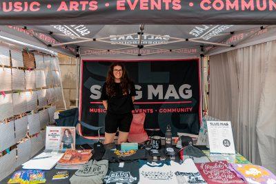 SLUG Events Coordinator Morgan Keller keeping the SLUG booth on lock.