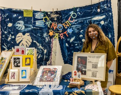 Haylee Canonico poses with some of her creations.