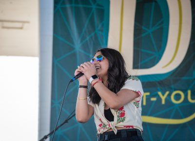 A&A Bollypop performs at the SLUG Mag Stage.