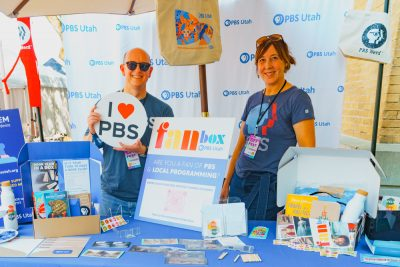 PBS came out to show off their great swag box chock full of goodies likes stickers, journals and more.