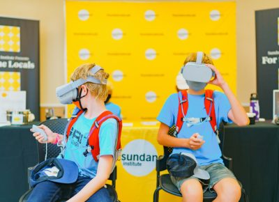 The Sundance Institute provided some on site VR experiences for everyone looking to the future of entertainment.
